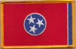 Tennessee Embroidered Flag Patch, style 08.